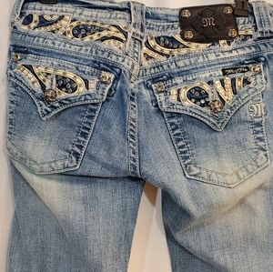 Miss me bling jeweled bootcut jeans size 29